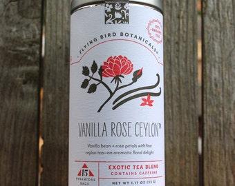 0432 Vanilla Rose Ceylon 15bag tin, fine organic exotic tea
