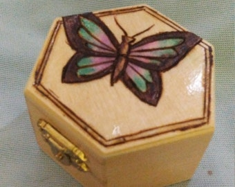 Mini Butterfly Jewelry Box