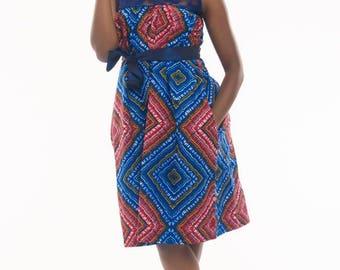 African print Dress. Ankara Dress. African print shift/tent dress