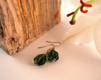 Glass Gem Earrings