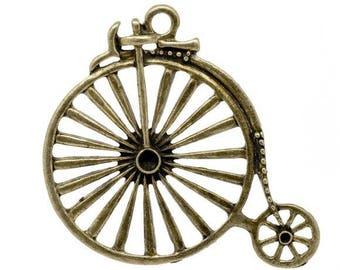 Great Retro bike Bronze charm pendant