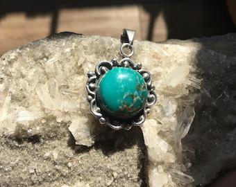 Round Turquoise Pendant