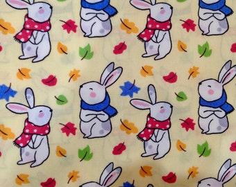 Little rabbits cotton poplin - Easter print  X 50 cm