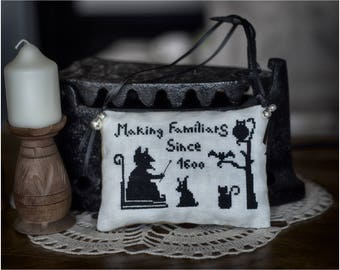 Making Familiars by TheWitchyStitchyRabbit  PDF Halloween Cross Stitch Pattern