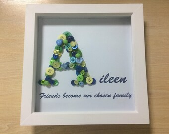 Personalised Button Letter Picture