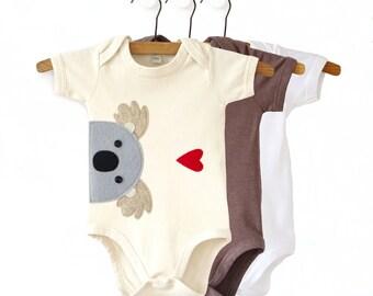 Organic Baby Koala Bodysuit : Koala Baby Shower, Koala Baby Gift
