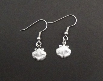 Earrings With Silver Shell Charm (#75)