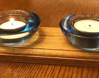 Wooden Tealight Holder, Candle Holder