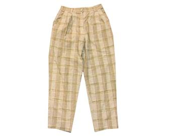 Vintage 90s Plaid High Waisted Pants W28