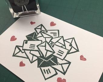 Envelopes Card (Green)