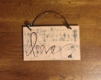 Love Wood Wall Hanging