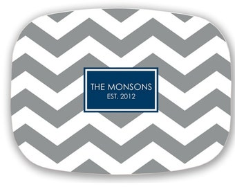 Personalized Platter, Personalized Plate, Personalized Melamine Platter, Monogrammed Melamine Plate, Personalized Wedding Gift