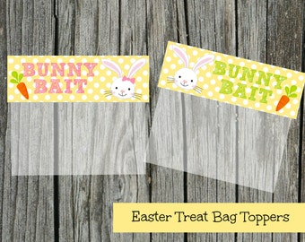 INSTANT Download EASTER Bunny Bait Goodie Treat Bag Topper  PRINTABLE Download - Fun Family Party diy