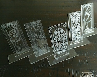 Clear Card CardCaptor Sakura Clow Card Outlie Etched Style - 2D Acrylic Props