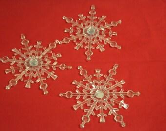 "Christmas: set of 3 ornaments ""snowflakes"""