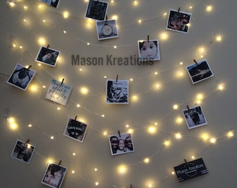 Hanging Light Photo Display, Fairy Lights Battery, Dorm Decor, Fairy Light  Dorm,
