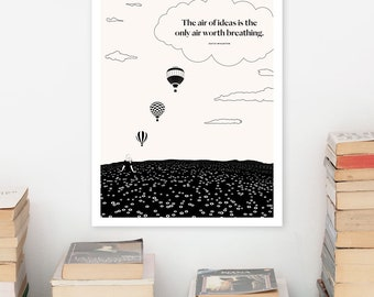 EDITH WHARTON Literary Art Print, Literary Poster, The Age of Innocence Quote Print, Bookish Gift for Her, Bookworm Gift for Girlfriend