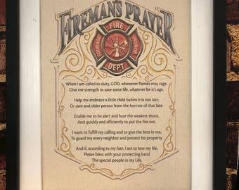 Firefighter - Firefighter Gift - Gift for him - Firefighter Prayer - Firefighter Decor - Firefighter Dad - Firefighter Birthday - Print