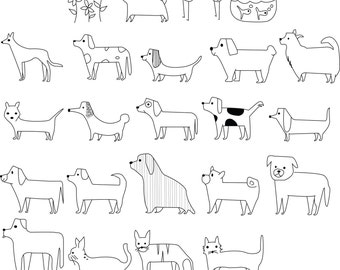 Set of 23 Pets Machine Embroidery Designs