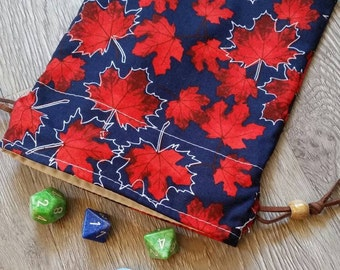 Drawstring Dice Bag - Maple!