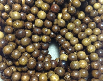 Robles wood 8 mm wood beads
