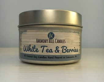 White Tea & Berries Scented Soy Candle