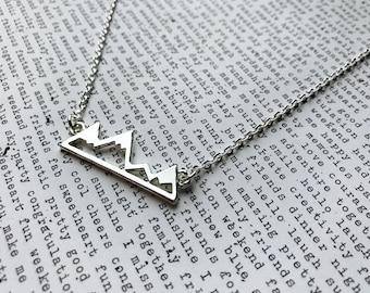 Silver Mountain Top Necklace