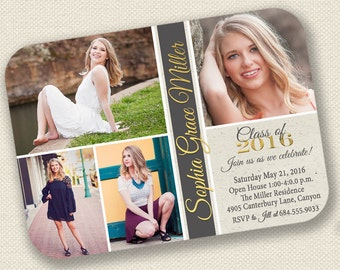 Senior Announcement, Graduation Announcement,Graduation Invitation,Senior Announcement, College Graduation,High School Graduation,Open House