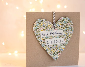 Personalised Wedding Card, Personalised Engagement Card, Made To Order Marriage Card, Special Wedding Anniversary Card