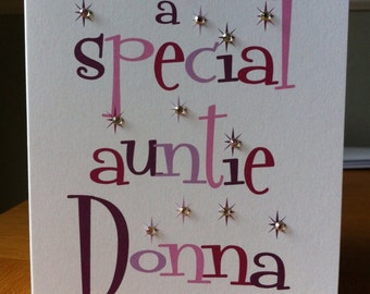 Relative and Name Birthday/Penblwydd Hapus Card - male or female