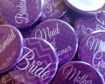 "1.25"" Purple Bachelorette Party Buttons"