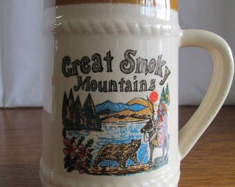 Vintage Great Smoky Mountains Souvenir Mug