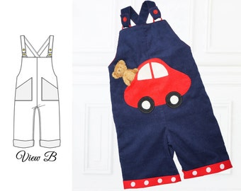 Baby Sewing Pattern, Romper Pattern, Boy Sewing Pattern, Baby Boy Pattern, Sunsuit Pattern, Overalls Pattern, Diaper Cover Pattern, CHARLIE