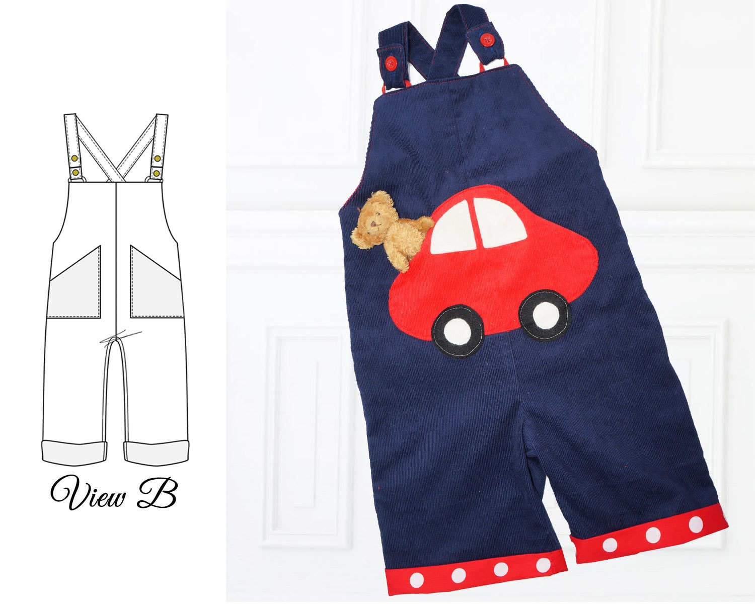 Baby sewing pattern romper pattern boy sewing pattern baby boy this is a digital file jeuxipadfo Choice Image