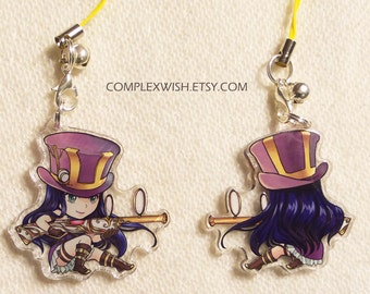 Reversible League of Legends Charm - Caitlyn the sheriff of piltover