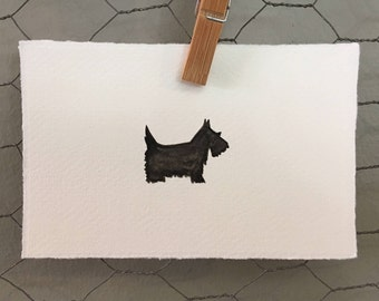 Scottish Terrier Watercolour Art Card