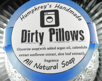 DIRTY PILLOWS Fabric Softener Scented Soap, UnisexScent, Beard Wash, Shave Soap, Shampoo Bar, Clean Laundry Detergent Smell
