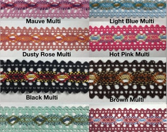 Cotton Cluny lace - 9 Continuous Yards - Many Color Options!