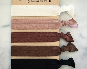 """Elastic Hair Ties - The """"Jane"""" Collection"""