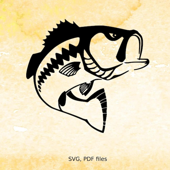 fishing svg file bass svg cutting file for silhouette svg