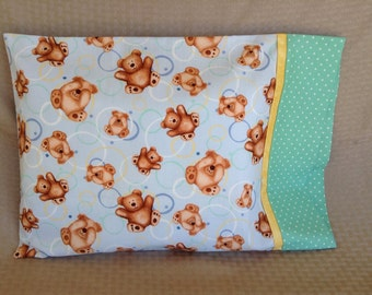 Teddy Bear Travel Pillowcase