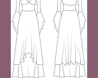 Medieval dress woman pattern, Cersei dress pattern, middle age dress, costume dress, renaissance dress pattern, GOT dress, sizes 36/44