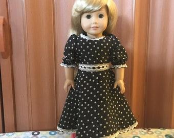 """Black 18"""" Doll Dress"""