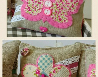 Hanging Fabric Decorations. Owl, Flower,Butterfly, House