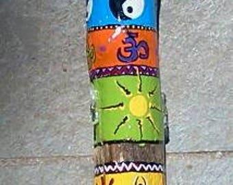 Painted Driftwood - Spirit stick, meditation stick