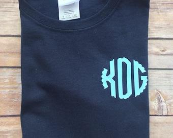 Monogram Shirt -  Monogram t-Shirt - Custom T-Shirt - Personalized T-Shirt - Ladies Monogram Shirt - Monogram Tshirt - gifts for her