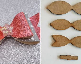 """4"""" Hair bow wooden template, make your own beautiful glitter Hair bows"""
