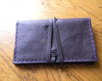 Companion plum colored leather