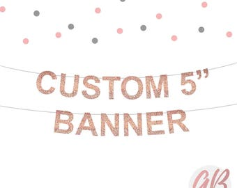 Custom banner letters | Wedding banner | Name banner | Custom birthday bunting | Rose Gold Party banner decoration | personalised bunting |
