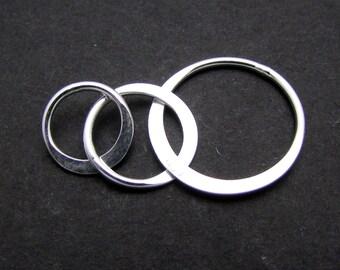 1 Set, 27mm, Sterling Silver Connectors